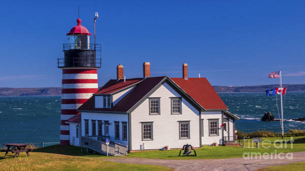 Photograph - West Quoddy Head Light. by New England Photography