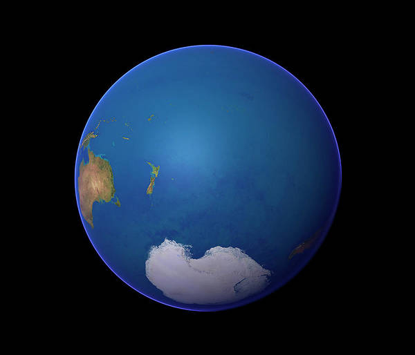 Southern Hemisphere Wall Art - Photograph - Whole Earth by Planetary Visions Ltd/science Photo Library