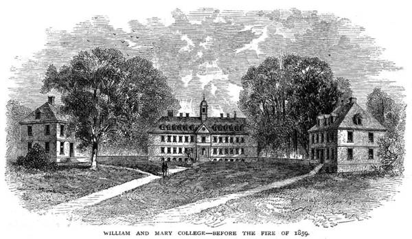 College Campus Painting - William And Mary College by Granger
