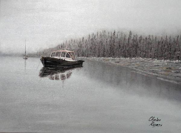 Wall Art - Painting - Winter Harbor by Charles Rogers