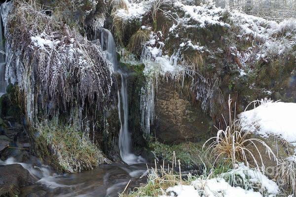 Photograph - Winter Waterfall by David Birchall