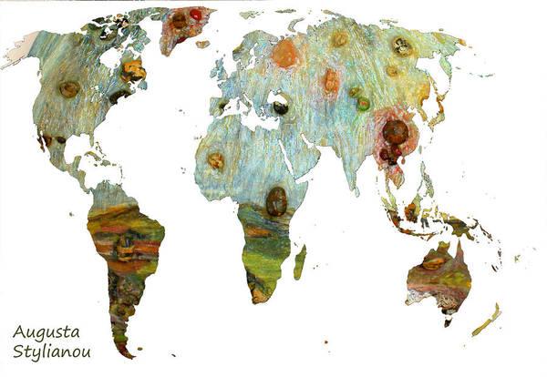 Digital Art - Abstract World Map  by Augusta Stylianou