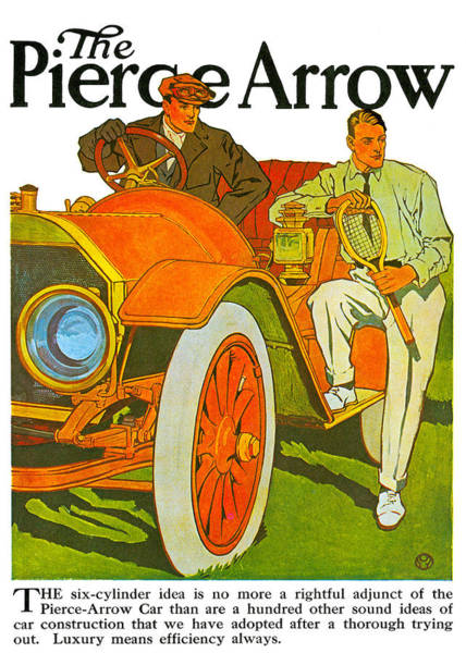 Photograph - The Pierce Arrow by Vintage Automobile Ads and Posters