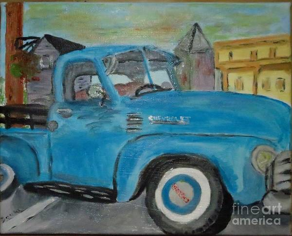 Painting - 50 Chevy In Tannersville by Donna Cavanaugh