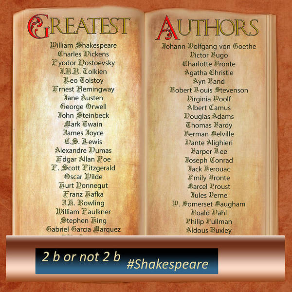 Photograph - 50 Greatest Authors And Some Extra by Gunter Nezhoda