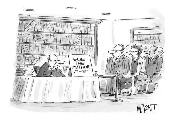 Authors Drawing - New Yorker June 12th, 2006 by Christopher Weyant