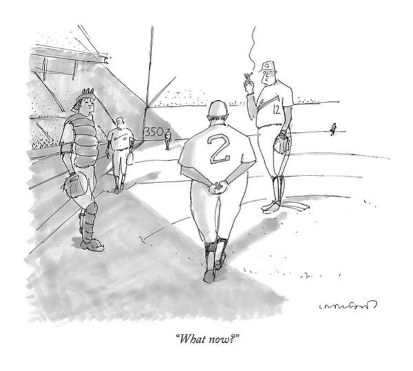 Fitness Drawing - What Now? by Michael Crawford