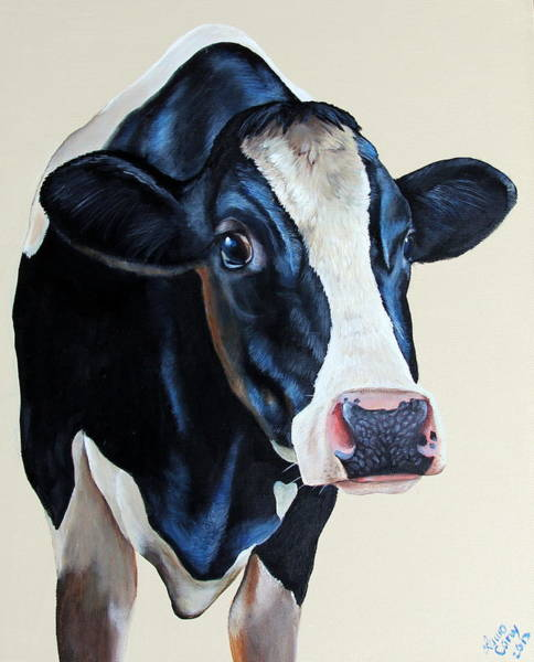 Hereford Bull Painting - 501 by Laura Carey