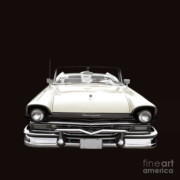 Photograph - 50s Ford Fairlane Convertible by Edward Fielding
