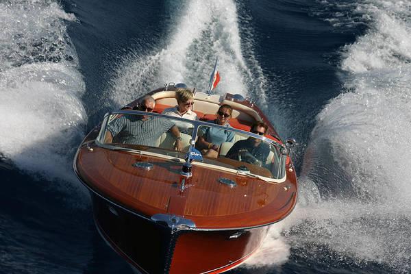 Outboard Engine Photograph - Riva Aquarama by Steven Lapkin