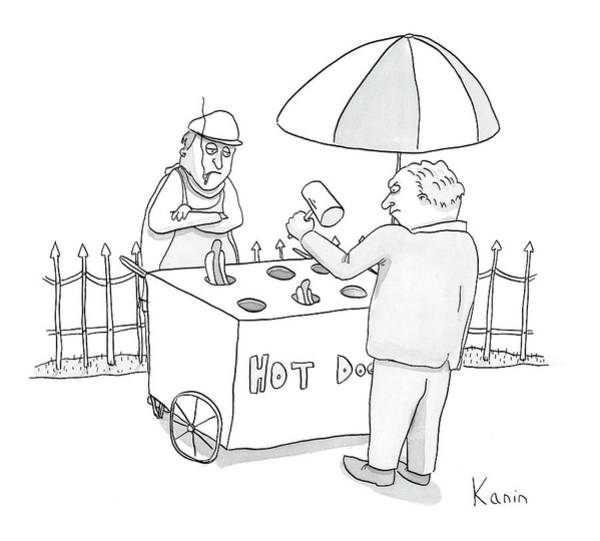 Cart Drawing - New Yorker March 5th, 2007 by Zachary Kanin