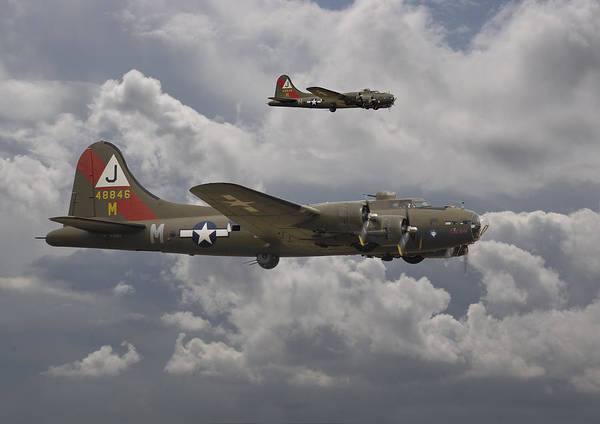 Flying Fortress Photograph - 511 Sqdn - 8th Usaaf by Pat Speirs
