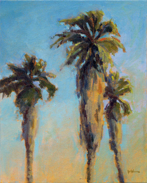 Art Print featuring the painting Pacific Breeze by Konnie Kim