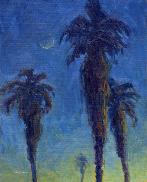 Painting - Hot Summer Palms by Konnie Kim