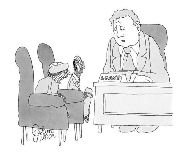 Bank Drawing - Sorry, Mom. Sorry, Pop by Gahan Wilson