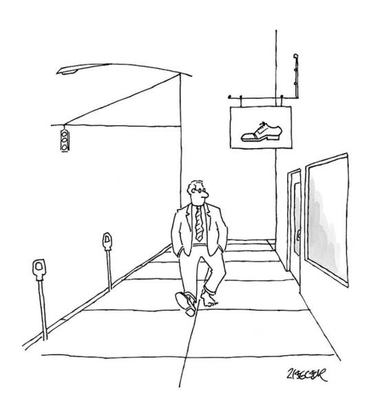 Single Drawing - New Yorker March 10th, 2008 by Jack Ziegler