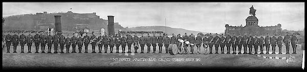 Wall Art - Photograph - 54th Pioneer Infantry Band, Coblenz by Fred Schutz Collection
