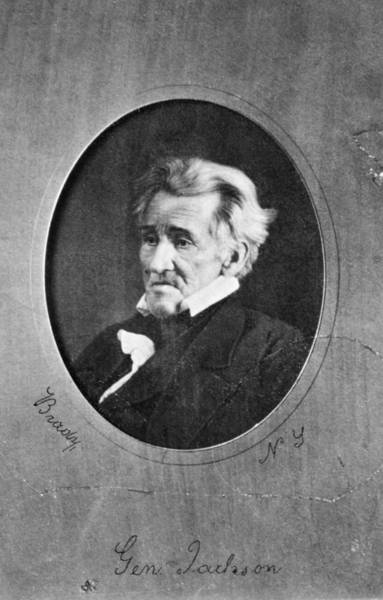 Wall Art - Photograph - Andrew Jackson (1767-1845) by Granger