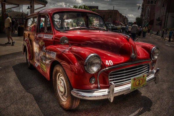 Wagon Digital Art - 55 Morris Minor Woody by William Fields