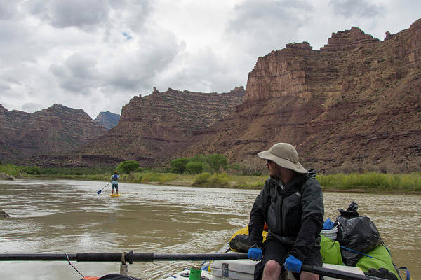 Standup Paddleboard Photograph - Rafting In Desolation And Gray Canyons by Taylor Reilly