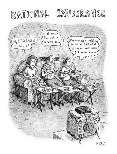 Dinner Drawing - Rational Exuberance by Roz Chast