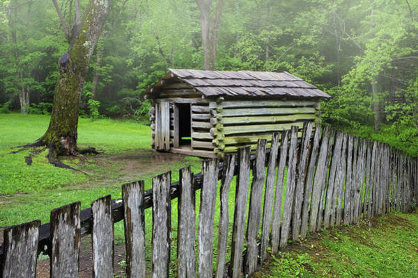 Log Cabins Photograph - Usa, Tennessee, Great Smoky Mountains by Jaynes Gallery