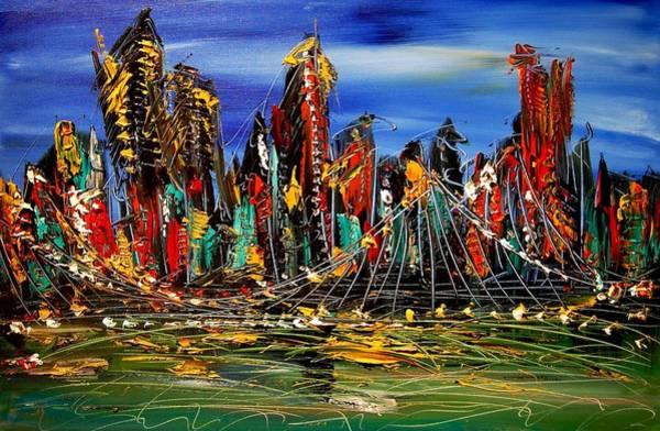 Transformer Painting - City by Mark Kazav