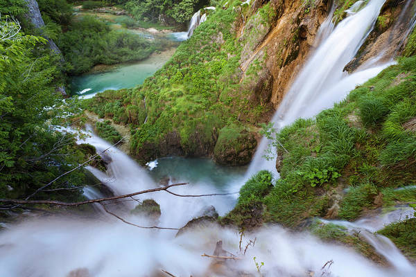 Plunge Photograph - The Plitvice Lakes In The National Park by Martin Zwick