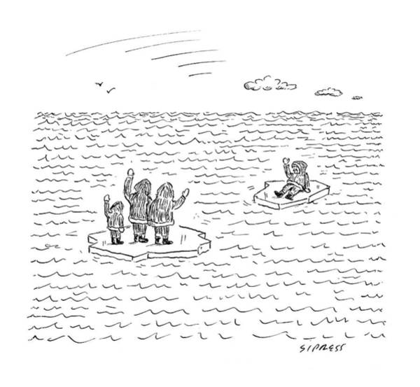 Senior Drawing - New Yorker July 21st, 2008 by David Sipress