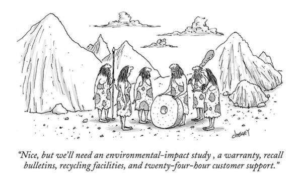 Invention Drawing - Nice, But We'll Need An Environmental-impact by Tom Cheney