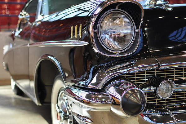 Photograph - '57 Chevy Bel Air Down The Side by Paulette B Wright