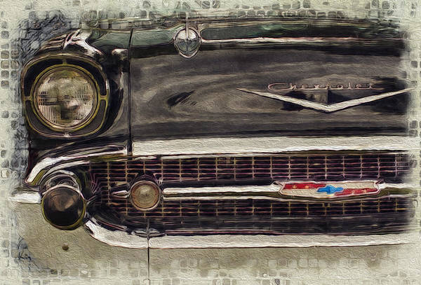 Car Show Painting - '57 Chevy Belair  by Jack Zulli