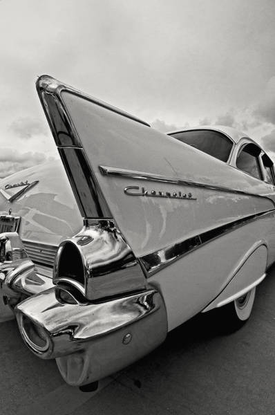 Photograph - '57 Chevy Tailfin by Andy Crawford