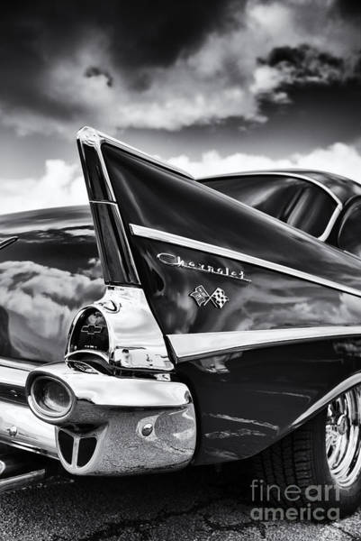Chevrolet Bel Air Photograph - 57 Monochrome by Tim Gainey