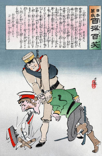 Strangling Painting - Russo-japanese War, C1905 by Granger