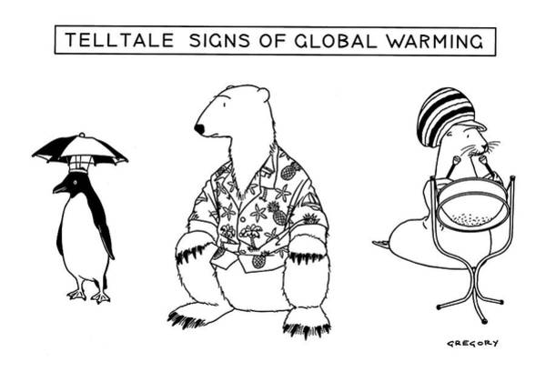 Shaded Drawing - Telltale Signs Of Global Warming by Alex Gregory