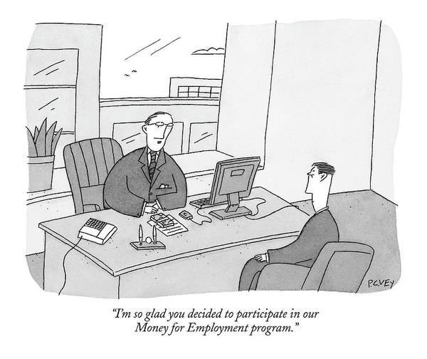 Personnel Drawing - I'm So Glad You Decided To Participate by Peter C. Vey