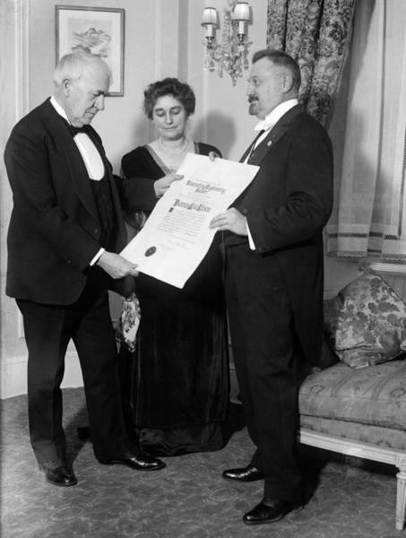 Membership Photograph - Thomas Edison (1847-1931) by Granger