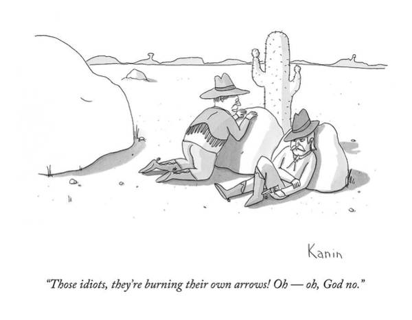 Native Drawing - Those Idiots by Zachary Kanin