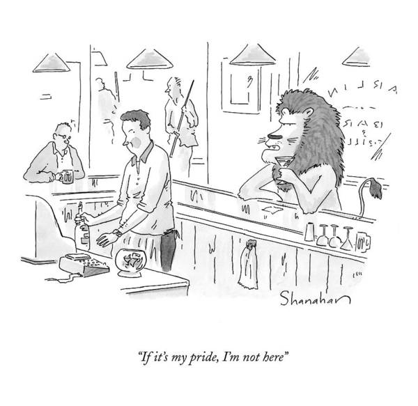 Bartender Drawing - If It's My Pride by Danny Shanahan
