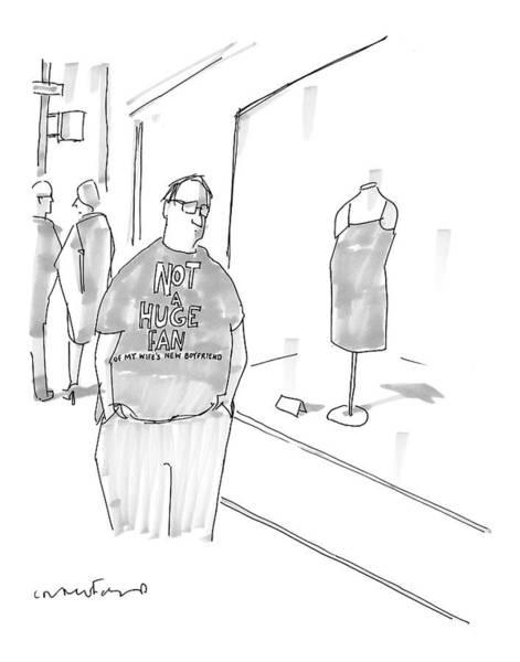 Boyfriend Drawing - New Yorker March 13th, 2006 by Michael Crawford