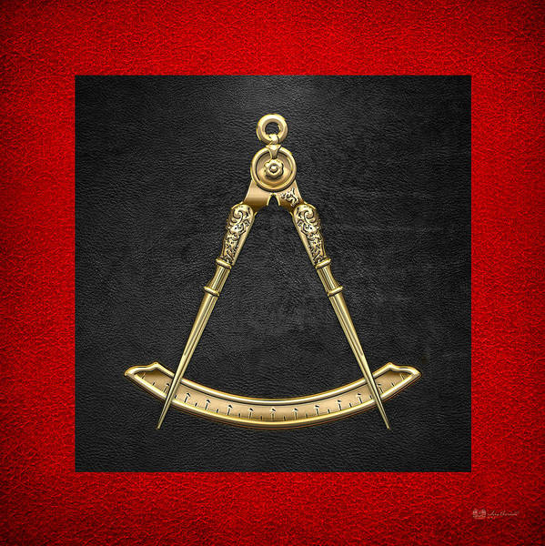 Digital Art - 5th Degree Mason - Perfect Master Masonic Jewel  by Serge Averbukh