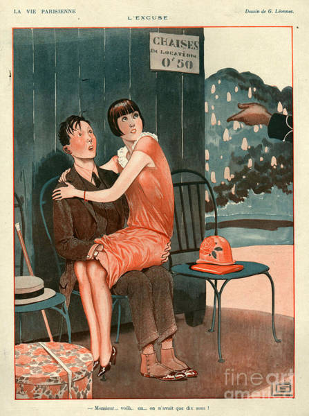 Wall Art - Photograph - 1920s France La Vie Parisienne Magazine by The Advertising Archives