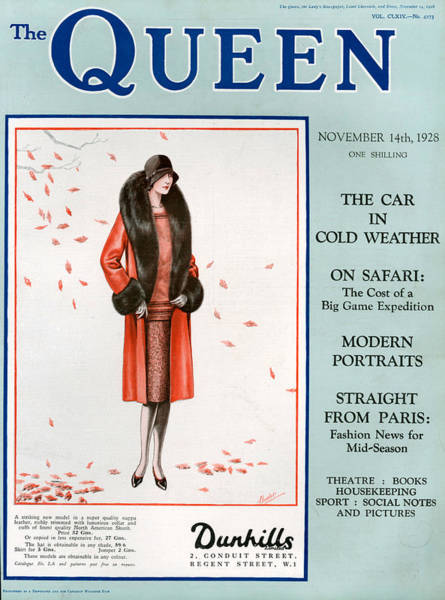 Wall Art - Photograph - 1920s Uk The Queen Magazine Cover by The Advertising Archives
