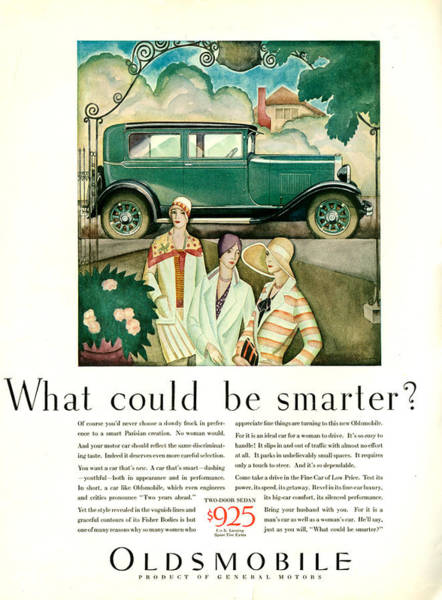 Wall Art - Photograph - 1920s Usa Oldsmobile Magazine Advert by The Advertising Archives