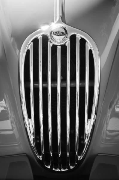 Photograph - 1957 Jaguar Xk140 Mc Fixed Head Coupe Grille Emblem by Jill Reger