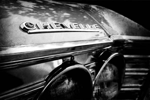 Photograph - 1967 Chevrolet Chevelle Malibu Head Light Emblem by Jill Reger