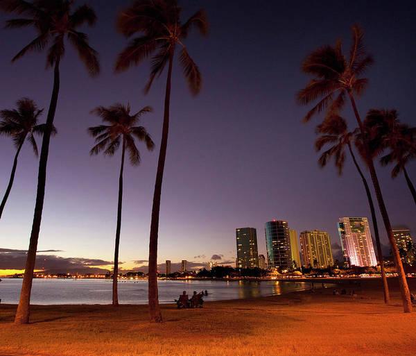 Wall Art - Photograph - Ala Moana Beach Park, Waikiki by Douglas Peebles