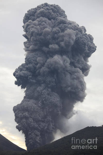 Photograph - Ash Cloud Rising From Tompaluan Crater by Richard Roscoe
