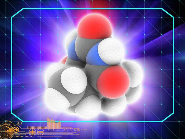 Wall Art - Photograph - Barbital Drug Molecule by Laguna Design/science Photo Library